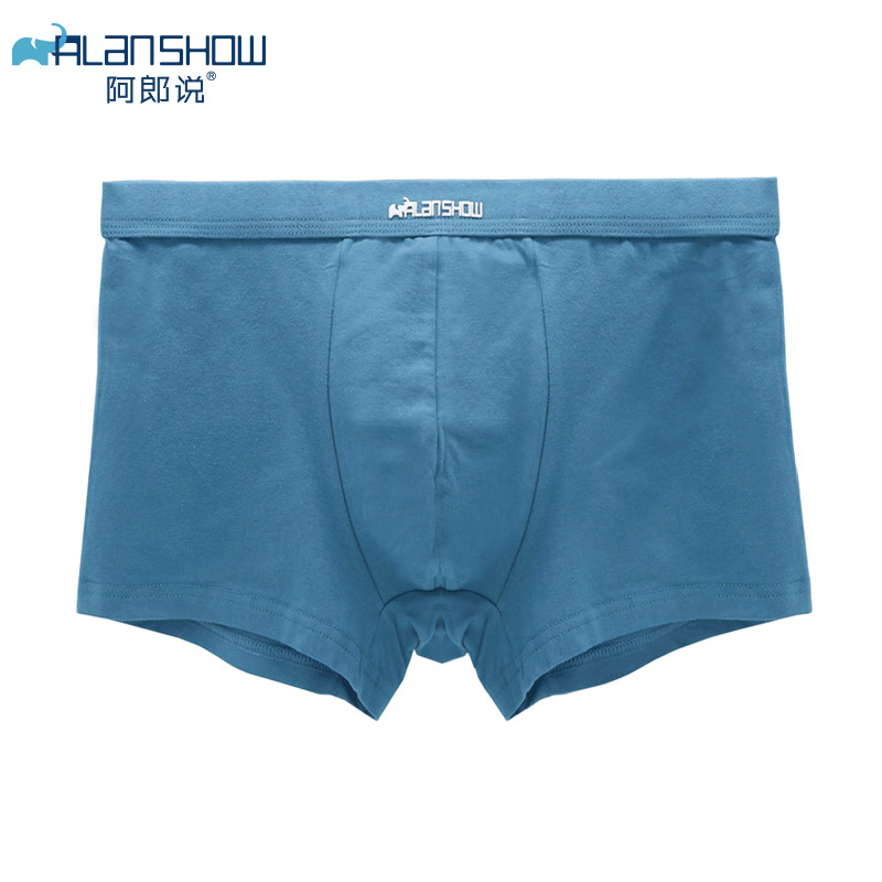 ALANSHOW Mens Underwear Soft Boxers Cotton Boxer Men Solid Boxer Shorts Plus Size Boxers Comfortable Mens Underwear 2020 New