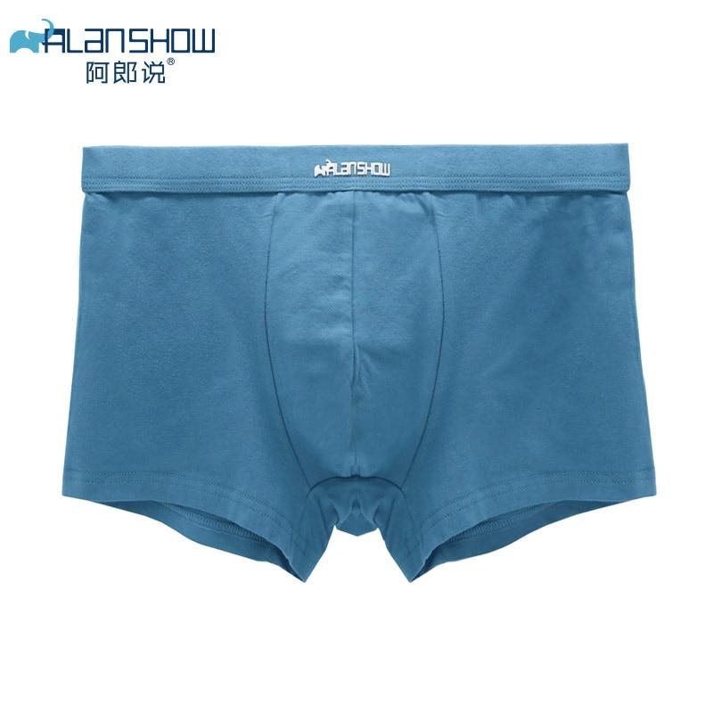 ALANSHOW Mens Underwear Soft Boxers Cotton Boxer Men Solid Boxer Shorts Plus Size Boxers Comfortable Mens Underwear 2020 New