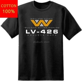 Camiseta de la película Aliens Lv426 Hadleys Hope Nostromo para hombre, camiseta...