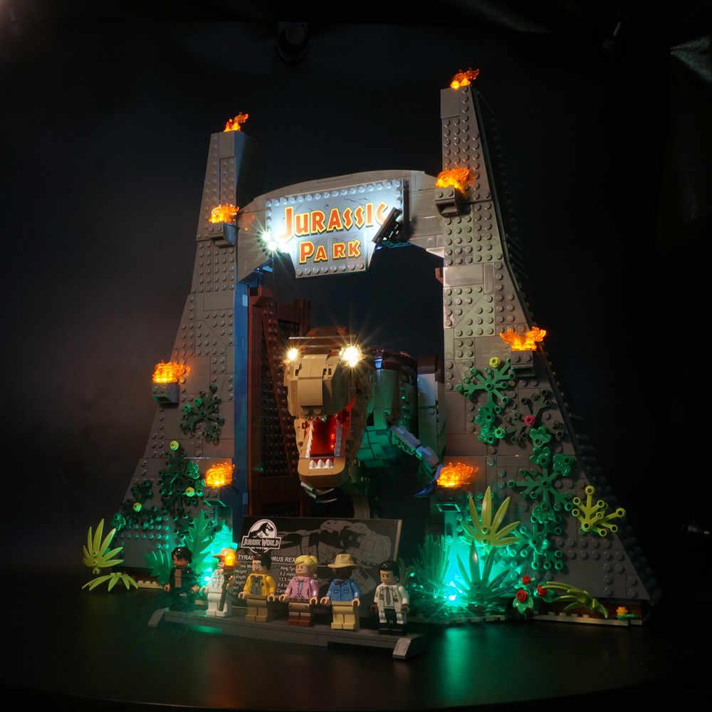 Led ライトキットジュラ紀映画公園互換 Legoed 75936 T。 rex Rampage ビルディングブロックレンガのおもちゃ (含めないブロックセット)