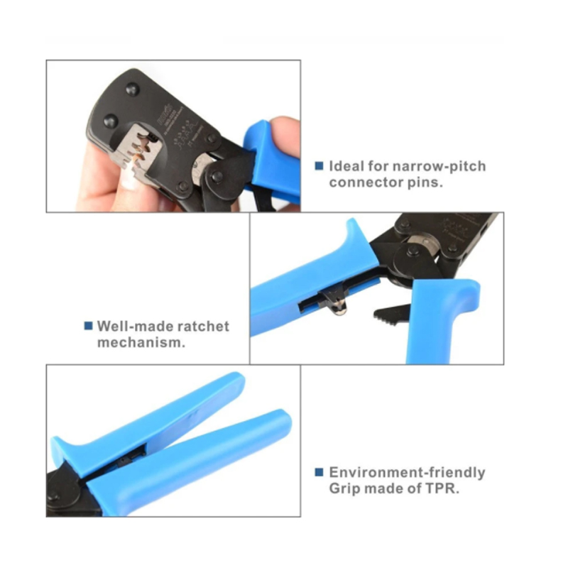 For Crimper Tools 3220M Crimp Plier Pitch IWS Crimping Range  Narrow 0 20 5mm Connector AWG32 03   Pins Ratchet 0 Hand
