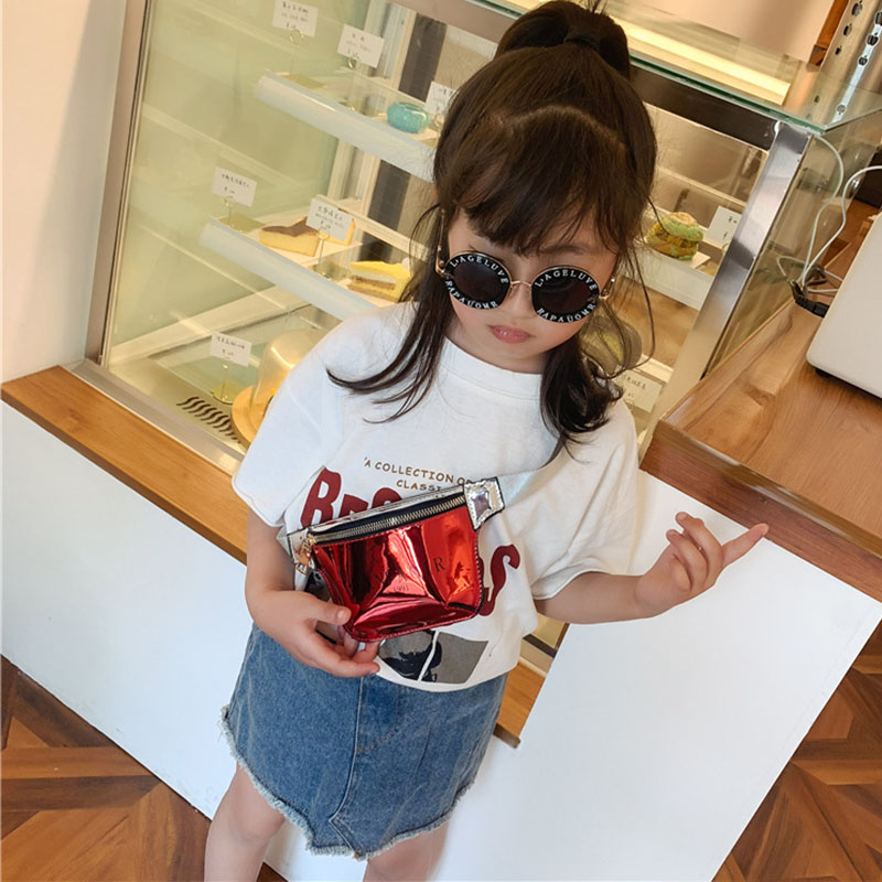 New Child Waist Bag For Kids Leather Fanny Pack Girl Chest Bag High Capacity Hip Bag Kidney Banana Bags Crossbody Bags