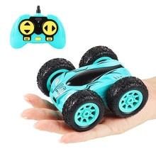 Coche teledirigido de doble cara para niños, juguete de coche acrobático de 3,7 pulgadas, 2,4G, 4 canales, giro de 360 grados, Control remoto
