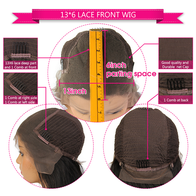 Green Color Lace Front Wigs With Baby Hair Loose Deep Wave Brazilian Remy Human Hair Wigs Pre Plucked Hairline 13*6 Frontal Wig 4