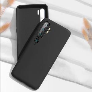 Custodia di TPU per Xiaomi Mi Note 10 (M1910F4G 6.47'') - nero (carbonstyle)