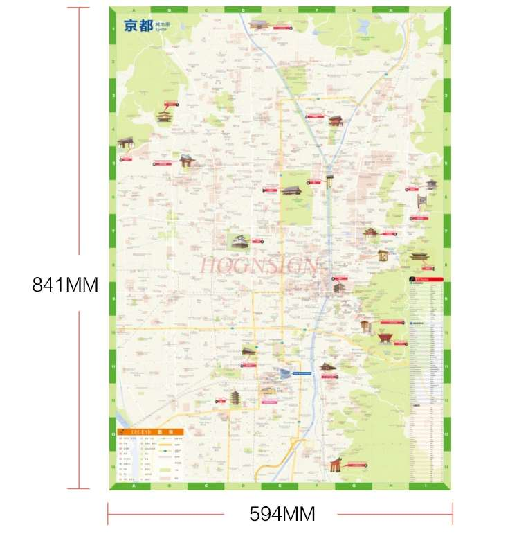 Kyoto Travel Map Kyoto Attractions Map Japan With Traffic Routes Subway Real Experience Experience Chinese And English
