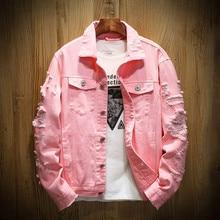 Men's jacket, personality jacket, pure Jean jacket, large coat, men's fashion Lapel jeans jacket men  clothes  mens jacket