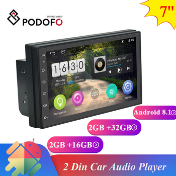 Podofo 2Din Android 8.1 Car Multimedia Video Player 7 Universal Stereo Car radio GPS Автомагнитола For Volkswagen Nissan toyota image