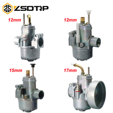 ZSDTRP New Carburetor Replacement Moped Bike fit Puch 12 15 17mm card Bing Style Carb for PUCH Bing SRC 1/17/54