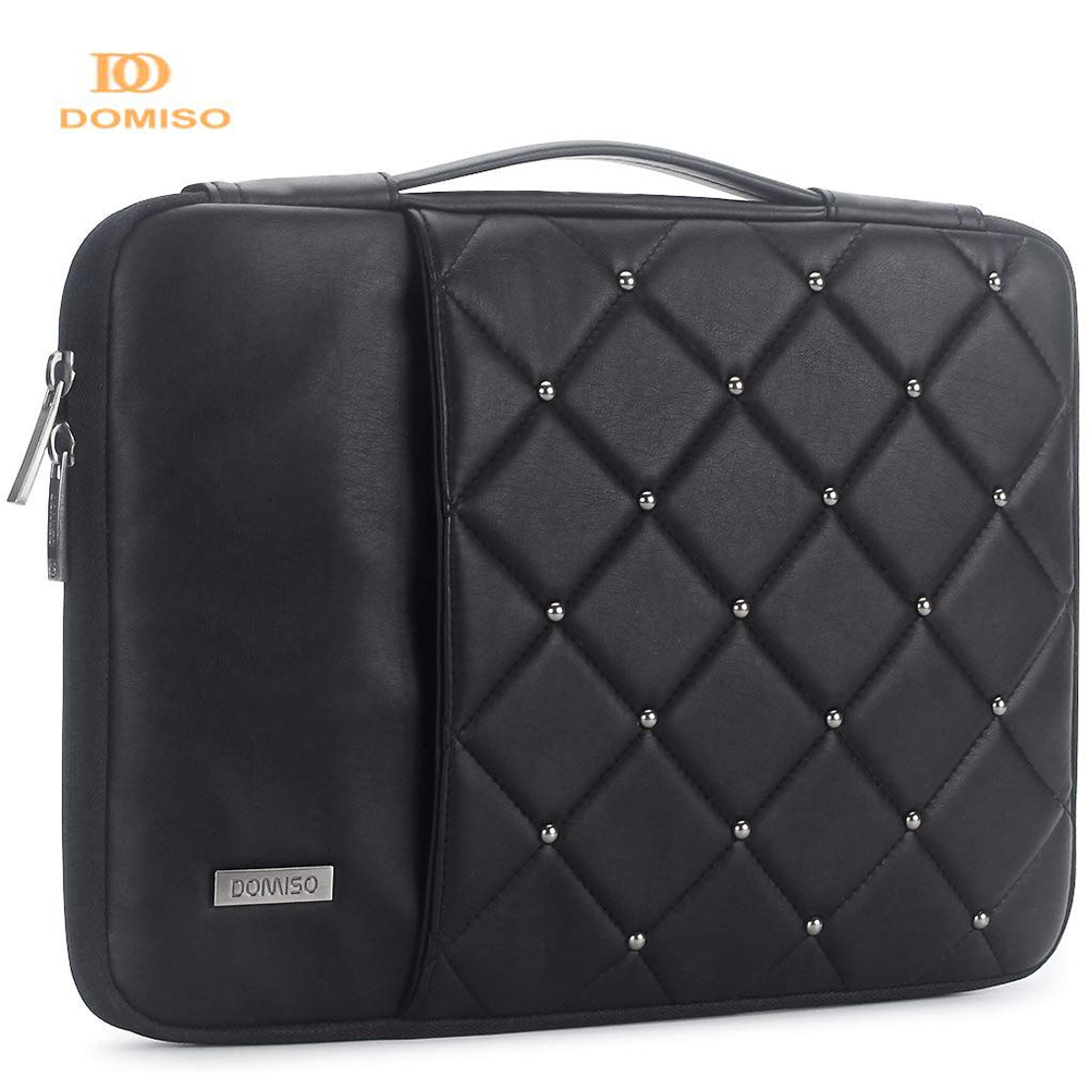 DOMISO 11 14 Inch Fashion PU Laptop Sleeve Shockproof Water-resistant Laptop Bag For MacBook Air/Lenovo Notebook Computer Bag image