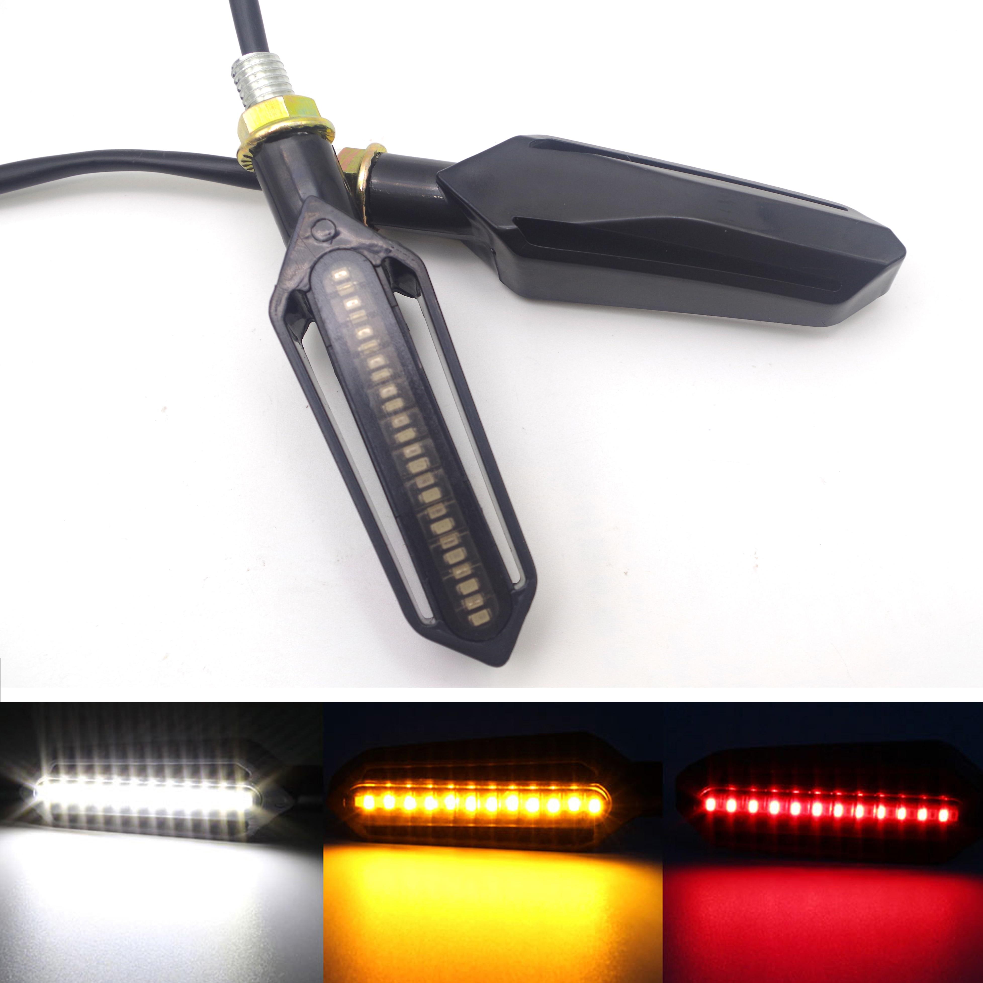Universal Motorcycle LED Turn Signal Light Indicators Amber Blinker Flasher FOR Mt09 Tracer K1200s Honda Cbr 1100 Xx Bmw S1000rr