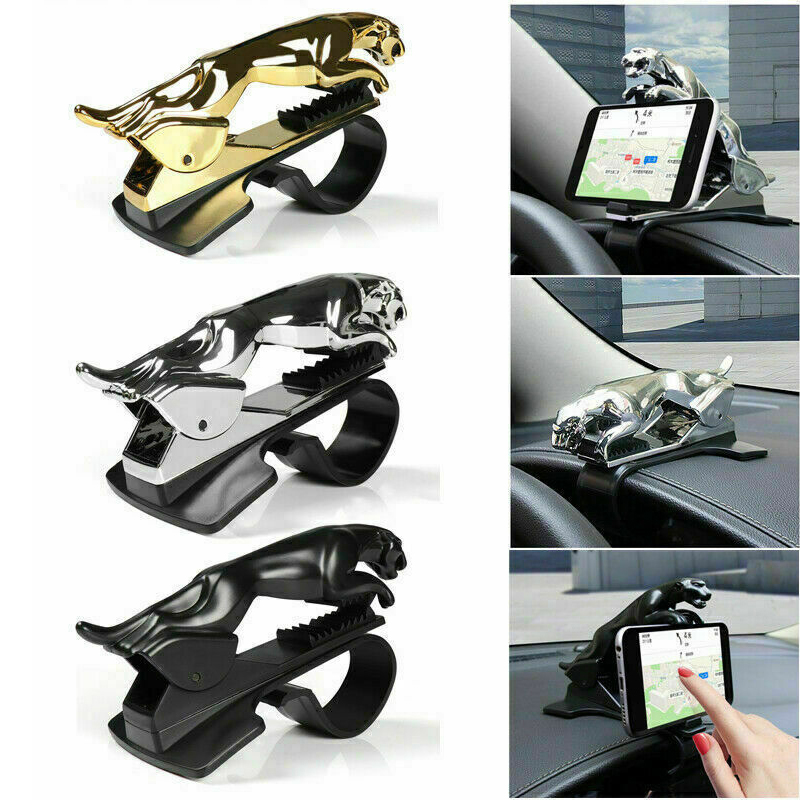 Universal 360 Degree Rotating Car Dashboard Leopard Phone Clip Holder Stand Bracket Dashboard Mount Clip Car Accessories