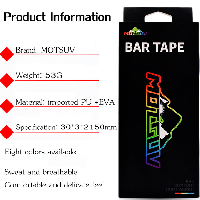MOTSUV Road Bicycle Handlebar Tape Belt New Tetris design Cycling Handle Bar Tape Wrap Anti-slip Anti-sweat Strap +2 Bar Plugs 1
