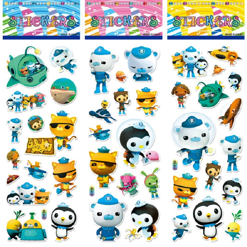 So Cute!!!10pcs / Set Of Octonauts Sticker Toys Octonautas Moveable Doll Toys Children Children's Toy Gift
