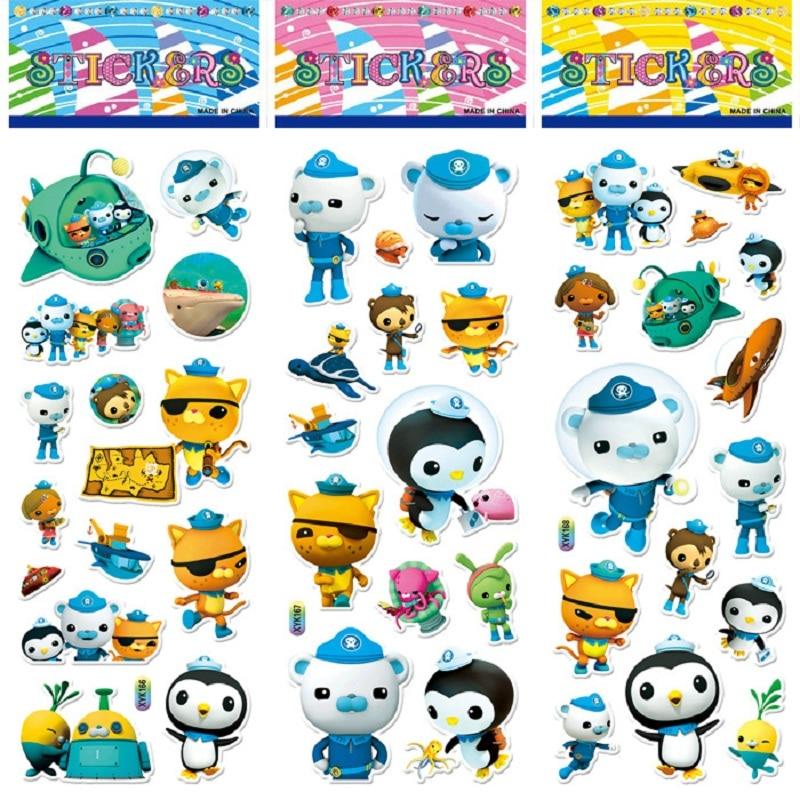 So Cute!!!10pcs / Set Of Octonauts Sticker Toys Octonautas Moveable Doll Toys Children Children's Toy Gift