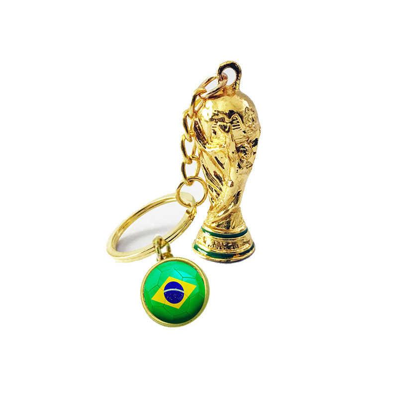 2019 Fãs de Futebol Esportes WW2 Troféu De Futebol Chaveiro chaveiro Presente Da Lembrança Da Bandeira Nacional Homens Menino Jogo de Bola Presentes Atacado