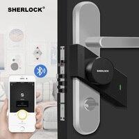 Sherlock S2 Fingerprint + Password Electronic Door Lock Home Keyless Electric Smart Lock Bluetooth Wireless APP Phone Control