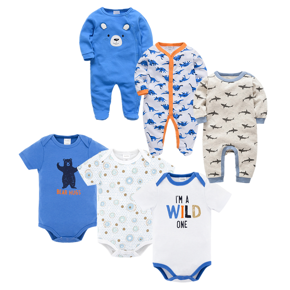 Toddler Baby Girls Bodysuit Short-Sleeve Onesie Surf Shark Print Outfit Autumn Pajamas