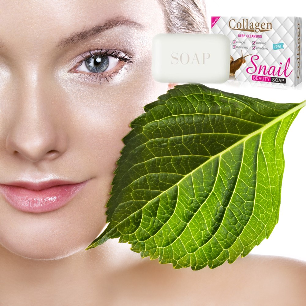 Pure Vegetable Snail Protein Essence And Whitening Soap With Hyaluronic Acid Brighten White Skin And Reduce Melanin Black Spots