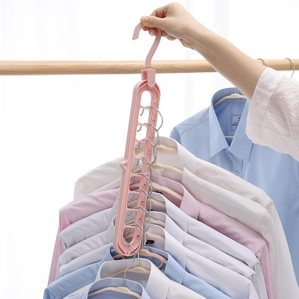 Anti-slip 9-hole Clothes Hanger Sorting Drying Rack Hook Wardrobe Organizer Keep Your Closet Organized With This Smart Hanging R