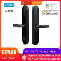 NEW Aqara N100 Smart Door Lock Fingerprint Bluetooth Password NFC Unlock Works with Mijia HomeKit Smart Linkage with Doorbell