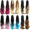 Волнистые накладные шиньоны JOY & BEAUTY с эффектом омбре, 10 цветов, удлинители волос из высокотемпературного волокна с конским хвостом и когтям...
