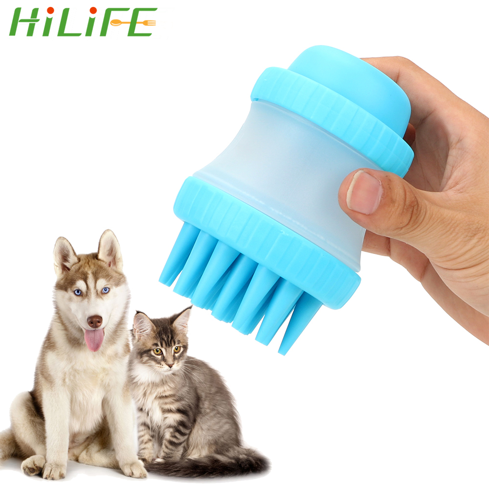 HILIFE Pet Bathing Tool Dog Accessories Cleaning Washing Bath Massage Brush Palm-Sized Comfortable Massager Shower Tool