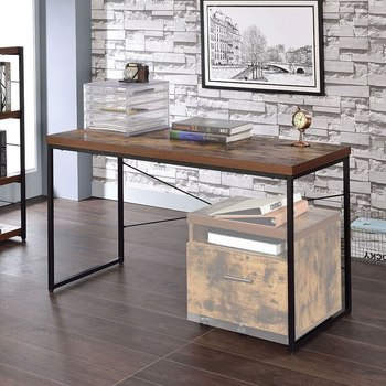 desk in weathered oak…