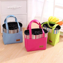 Popular New Fashion Portable Insulated Canvas Lunch Bag Thermal Food Picnic Bag For Women Kids Men Cooler Bag Lunch Box Tote(China)