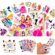 12 sheets/lot 3D Puffy Bubble Stickers Cartoon Frozen Mickey Little Ponies Stickers DIY For Children Boy Girl Toys PVC Removable(China)