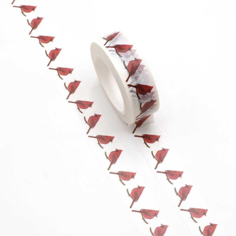 Mới 1 Robin Redbreast Washi Băng Quy Hoạch Thêu Sò Dán Dễ Thương Etic Adhesiva Decorativa Đắp Mặt Nạ Băng Nhật Bản Văn Phòng Phẩm