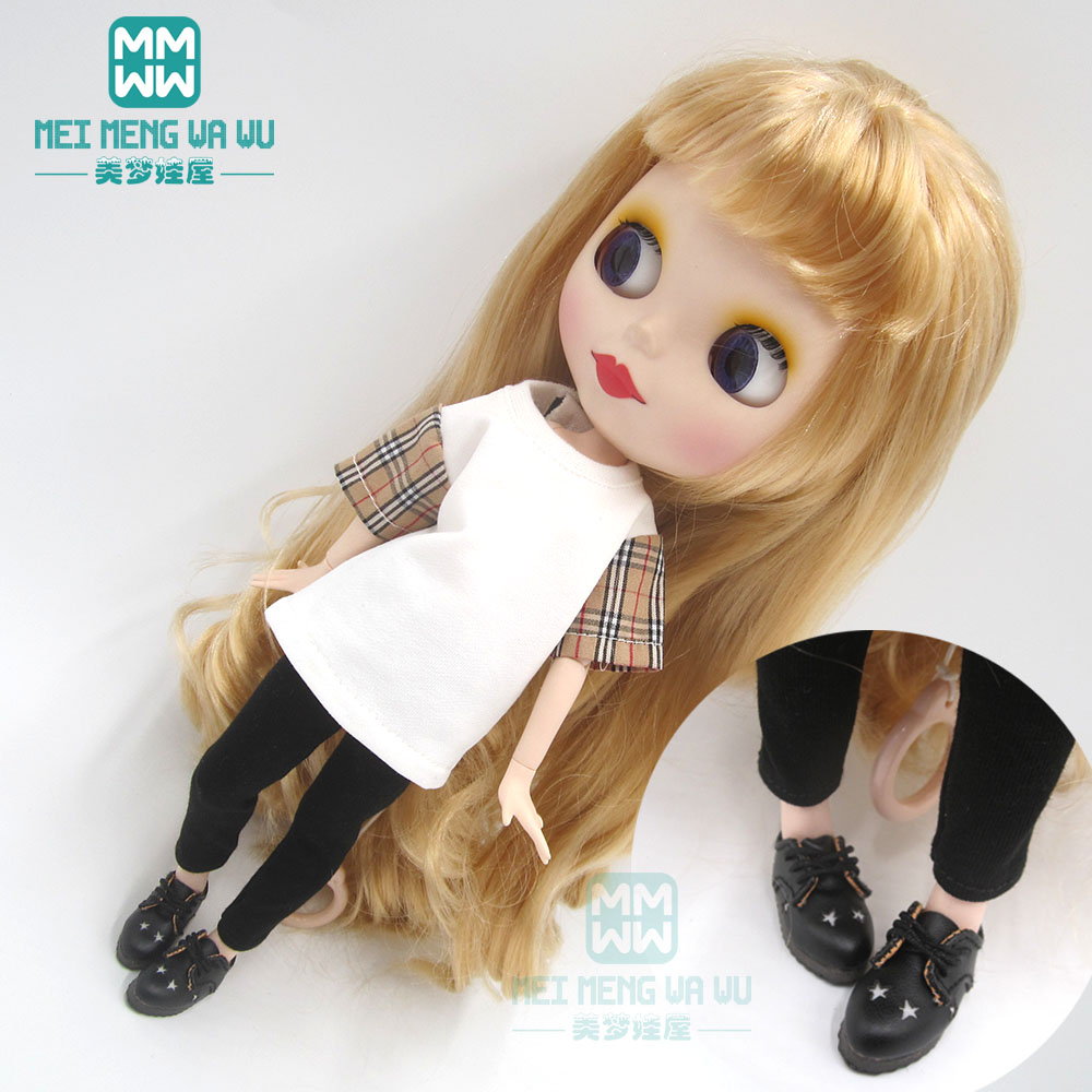 1pcs Blyth Doll Clothes Letter Jersey Tights Sneakers For Blyth Azone1/6 Doll Accessories