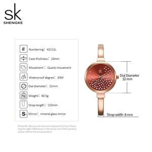 Image 5 - Shengke نساء ساعات نساء ساعة موضة جنيف مصمم ساعة سيدات ماركة فاخرة الماس كوارتز ساعة معصم هدايا للنساء