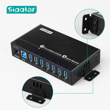 2019 NEW arrival model 7 port USB 3.0 super speed hub with smart charging port from Sipolar Manufacturers