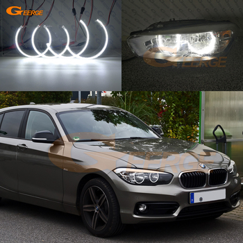 For BMW 1 SERIES F20 F21 2011 2012 2013 2014 2015 2016 2017 HALOGEN HEADLIGHT Excellent Ultra bright smd led Angel Eyes kit DRL image
