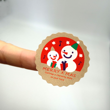 90pcs/lot cute stickers Merry Christmas Snowman Sealing Sticker Adhesive Kraft Seal