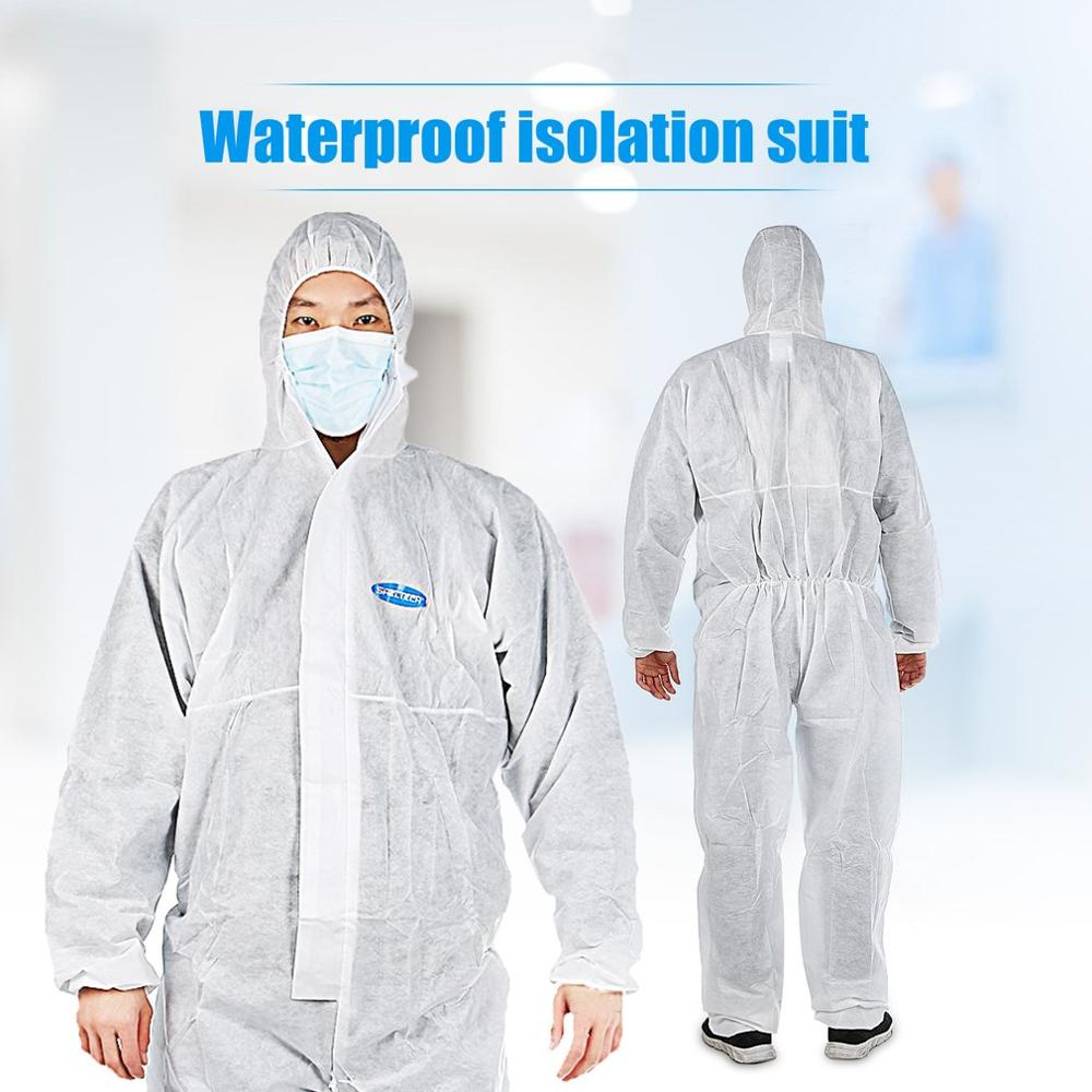 Protective Clothing Disposable Hooded Coveralls Safety Antistatic Chemical Workwear Dustproof Anti-splash