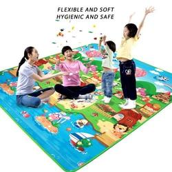 Детский игровой коврик толщиной 0,5 см, коврик для ползания с двойной поверхностью, Детский ковер, коврик-пазл для занятий в тренажерном зале,...