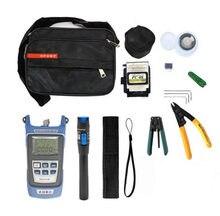 12 pçs kit de ferramentas fibra óptica ftth com fibra optica medidor de energia localizador visual falha kit fibra optica