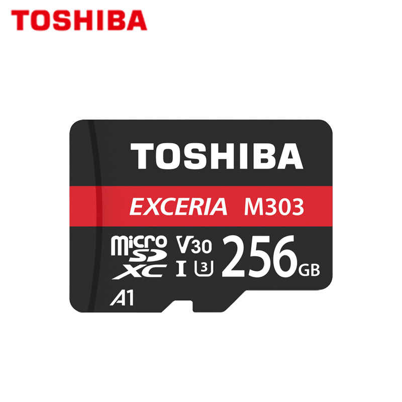 Asli Toshiba Exceria Micro Sd Kartu M303 SDXC 128GB 256GB Kartu Memori Trans Flash TF Card Max 98 MB/s untuk Android Video 4K