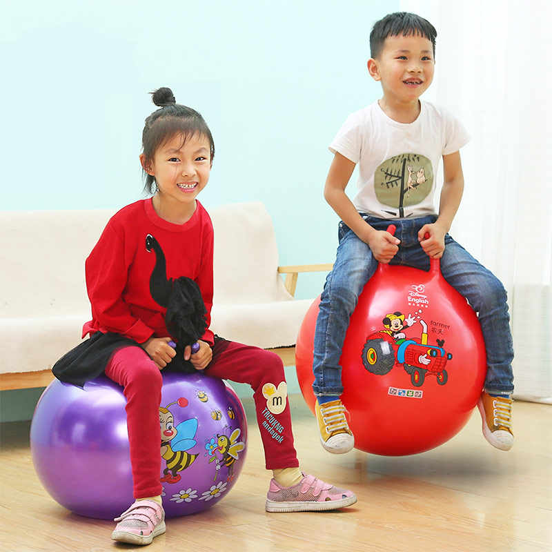 Hand Pump for Gym Exercise Ball Space Hopper Inflatable Bouncing Horse Green