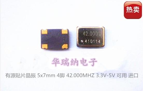 5pcs 100% New And Orginal Oscillator Active SMD Crystal OSC 5X7 5070 42MHZ 42M 42.000MHZ 3.3V 5V