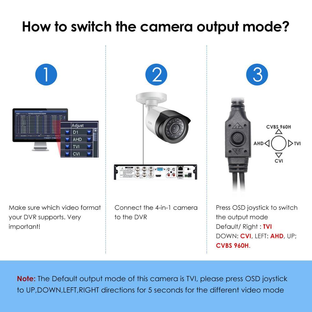 """Image 3 - ZOSI 4 в 1 CVBS AHD TVI CVI 1/2.7 """"CMOS 1080P CCTV для домашнего наблюдения с защитой от атмосферных воздействий 3,6 мм объективом с ИК камеры безопасностиhome surveillance1080p cctvcctv surveillance  АлиЭкспресс"""