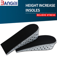 3ANGNI 1 Pair EVA Breathable Memory Foam Soft Height Increase insoles for Shoes Men Women Lifts insert Pad Taller High Insoles