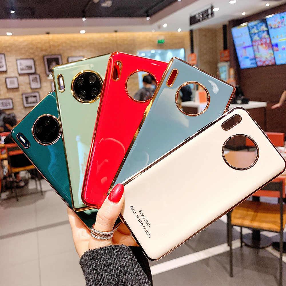 Luxus Telefon Abdeckung Fall Für Huawei P40 P30 P20 Pro Lite Mate 30 20 Ehre 20 Pro Für Nova 3 3i 4 5 5i Pro Fall Weiche Silikon Fall