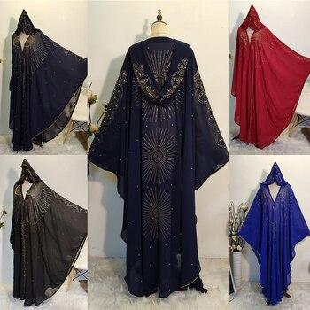 Abaya-Bolero de Dubái para Mujer, chaqueta con cuentas para Mujer, Hijab, Boerka...