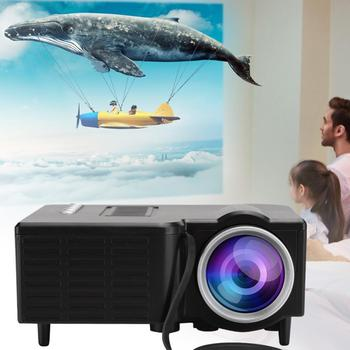 LED Mini Office Projector 320*180 Physical Resolution Portable Projector Support 1080P Video USB TF-Card Home Projector Player
