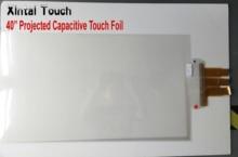 Новая акция! 40 дюймов usb ёмкостный сенсорный пленка, настоящее 20 точек касания фольги для Защитное стекло для экрана