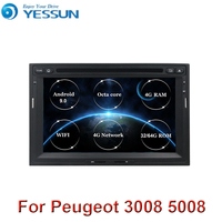 4G RAM Android 9 Car Multimedia Player For Peugeot 3005 3008 5008 Partner Berlingo Stereo GPS Navigation DVD 2 Din Car Radio