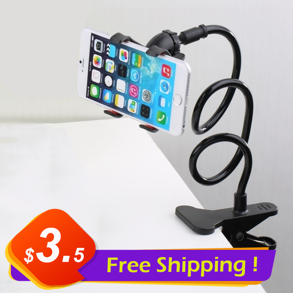 Universal Phone Holder Flexible 360 Degree Clip for Mobile Cell Phone Holder Lazy Bed Desktop Bracket Mount Stand Desk Bracket